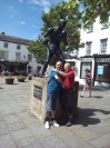 Randolph Turpin Statue In Warwick And Adrian Bush Chairman Of Randolph Turpin Memorial Fund
