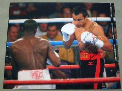 Juan Manuel Marquez 5 x World Champion SIGNED Action Shot Photo