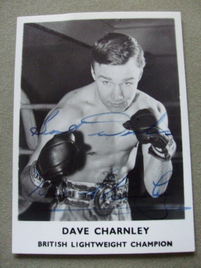 Dave Charnley Former British And Commonwealth And European Lightweight Champion SIGNED And INSCRIBED Promotional Photo