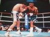 Frankie Randall Former WBC And WBA Light Welterweight Champion SIGNED Action Shot Photo Against Julio Cesar Chavez
