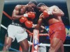 Carlos De Leon Former WBC Cruiserweight Champion SIGNED Action Shot Photo Against Evander Holyfield