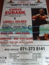 Chris Eubank vs Lindell Holmes Also Featuring Steve Collins Unique And Rare Original Oversized Onsite Arena Display Poster