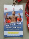 Yuriorkis Gamboa vs Roger Gonzalez Official Onsite Promoter Credential Also Featuring Lara And Solis