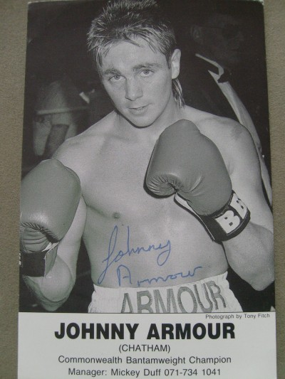 Johnny Armour Former Commonwealth And WBU Bantamweight Titleholder SIGNED Promotional Photo