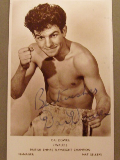 Dai Dower British And Empire And European Flyweight Champion SIGNED And INSCRIBED Promotional Photograph