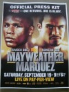 Floyd Mayweather Jr vs Juan Manuel Marquez Official SUBSTANTIAL Press Pack