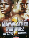 Thomas Hearns SIGNED Fight Poster Featuring Floyd Mayweather Jr vs Juan Manuel Marquez