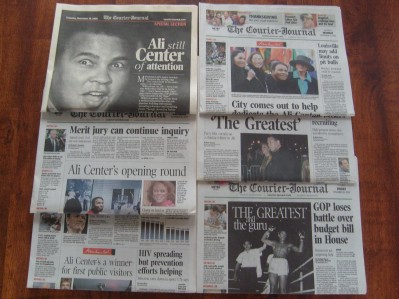 6 Louisville Courier Journal Newspapers Celebrating Ali Center Opening