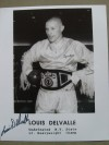 Louis Del Valle Former WBA Light Heavyweight World Champion SIGNED Large Promotional Photo