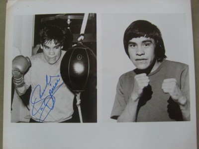 Ruben Olivares Hall Of Famer Mexican Legend And 2 Weight World Champion SIGNED Double Image Photo