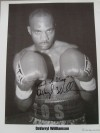 DaVarryl Williamson Former IBF Heavyweight Contender SIGNED And INSCRIBED Photo