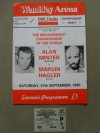 Alan Minter vs Marvin Hagler Official Onsite Programme Plus Ringside Ticket Also SIGNED By Tony Sibson Who Featured On The Bill