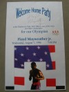 Floyd Mayweather Jr 1996 Olympic Bronze Medallist SIGNED RARE Welcome Home Party Poster In Celebration Of The Grand Rapids Olympian