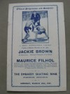 Jackie Brown vs Maurice Filhol Flyweight Championship Of The World Official Onsite Programme