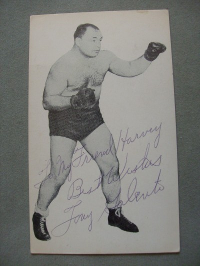 Tony TWO TON Galento The Most Colourful Fighter In The History Of Boxing SIGNED And INSCRIBED Photo