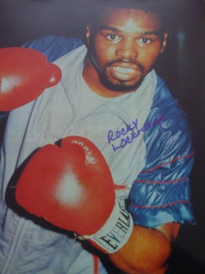 Rocky Lockridge Former IBF And Became WBA Super Featherweight World Champion When Defeating Roger Mayweather In 1984 SIGNED Photo
