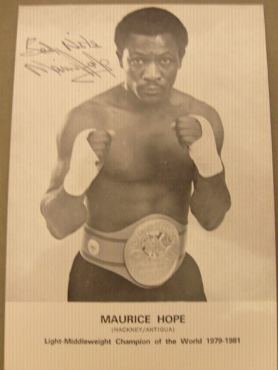 Maurice Hope Former WBC Light Middleweight World Champion SIGNED Promotional Photo