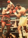 Iran Barkley Former 3 Weight World Champion SIGNED Action Shot Photo When Defeating Thomas Hearns