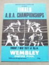 British Legends And Former World Champions Alan Minter And John Conteh RARE Official Onsite Amateur Programme