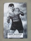 Barry McGuigan Former WBA World Featherweight Champion SIGNED And INSCRIBED Promotional Photo