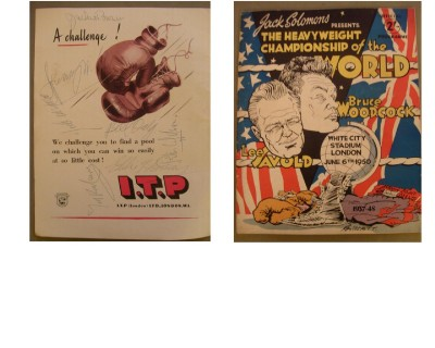 ULTRA RARE Britains Greatest Ever World Champions Of Any Era Jimmy Wilde And Ted Kid Lewis Plus Jackie Brown And Jock McAvoy Multi SIGNED Programme