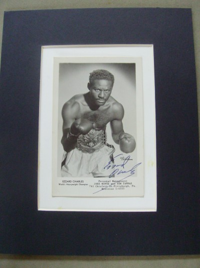Ezzard Charles Former World Heavyweight Champion 1949 to 1951 SIGNED Promotional Photo