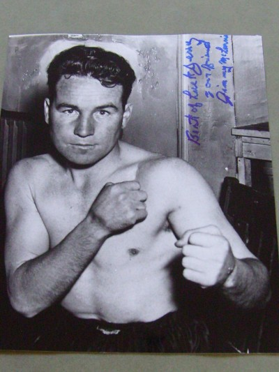 Jimmy Mclarnin Former 1930s 2 Time Welterweight World Champion