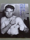 Jimmy McLarnin Former 1930s 2 Time Welterweight World Champion SIGNED And INSCRIBED Boxing Pose Photo