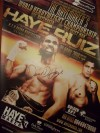 David Haye vs John Ruiz WBA World Heavyweight Title Official Onsite Poster SIGNED BY DAVID HAYE