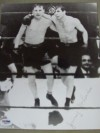 Jimmy McLarnin Former 2 x Welterweight World Champion And Hall Of Famer After Fight Mutual Embrace With Barney Ross SIGNED Photo