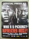 Thomas Hearns Legendary Detroit Hitman And WBC Welterweight Champion Andre Berto SIGNED Mayweather vs Mosley Official Press Pack