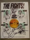 Marvin Hagler vs John Mugabi Also Featuring Thomas Hearns vs James Shuler Official Onsite Programme DUAL SIGNED By Thomas Hearns And Marvin Hagler