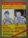 Brian Mitchell vs Jim McDonnell WBA Super Featherweight Title DUAL SIGNED Official Onsite Programme