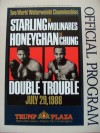 Lloyd Honeyghan And Marlon Starling DUAL SIGNED Official Onsite Programme Billed DOUBLE TROUBLE
