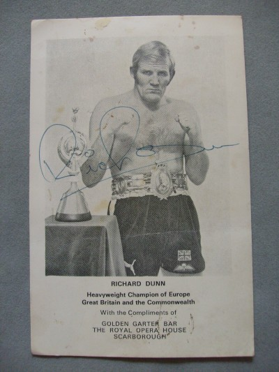 Richard Dunn Former British And Commonwealth And European Heavyweight Champion And Former Ali Opponent SIGNED Promotional Photo