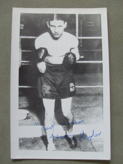 Harry Mizler Former 1930s British Lightweight Champion SIGNED And INSCRIBED Photo