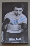Laszlo Papp Hungarian 3 x Olympic Gold Medallist And Former European Middleweight Champion And Hall Of Famer SIGNED Promotional Photo
