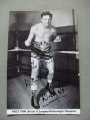 Wally Thom Former British And Commonwealth And European Welterweight Champion SIGNED And INSCRIBED Promotional Photo