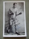 Johnny Cuthbert Former British Lightweight And Featherweight Champion SIGNED Photo Also Containing Interesting Handwritten Inscription On Reverse