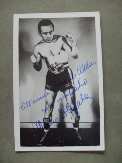 Mario D Agata Former Bantamweight World Champion Who Holds The Distinction Of Being The 1st World Champ To Be Deaf SIGNED And INSCRIBED Photo