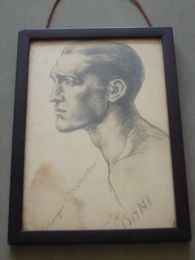 Georges Carpentier Former Light Heavyweight World Champion 1920 to 1922 SIGNED ORIGINAL Pencil Sketch By Artist J Pisani Circa 1922
