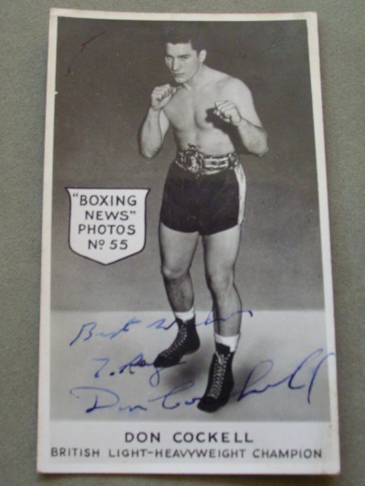 Don Cockell Former British Heavyweight And Light Heavyweight Champion Also World Title Challenger To Rocky Marciano SIGNED And INSCRIBED Photo Card