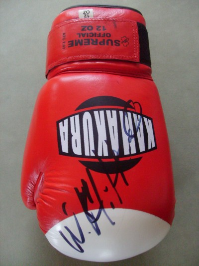 Wladimir Klitschko Dr STEEL HAMMER Unified IBF And WBO And IBO And Ring Magazine Heavyweight World Champion SIGNED Glove