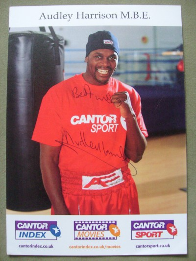 Audley Harrison Former Olympic Gold Medallist And Former European Heavyweight Champion SIGNED Promotional Photo