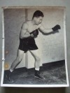 Freddie RED Cochrane Former Welterweight World Champion SIGNED And INSCRIBED And DATED Studio Photo