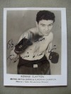 Ronnie Clayton Former British And British Empire And European Featherweight Champion SIGNED And INSCRIBED Promotional Photo