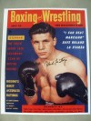 Roland La Starza Former Heavyweight Title Challenger Who Fought The Legendary Rocky Marciano Twice SIGNED Boxing Magazine Front Cover Photo