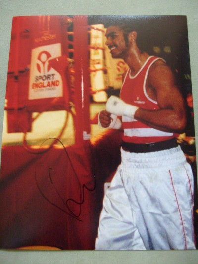 David Haye WBA Heavyweight World Champion SIGNED 2002 Manchester Commonwealth Amateur Games ORIGINAL Photo