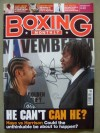 David Haye And Audley Harrison Boxing Monthly Magazine Front Cover Pre Fight Photo SIGNED By Audley Harrison