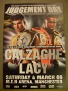 Joe Calzaghe vs Jeff Lacy Super Middleweight World Title Unification Official Onsite Programme